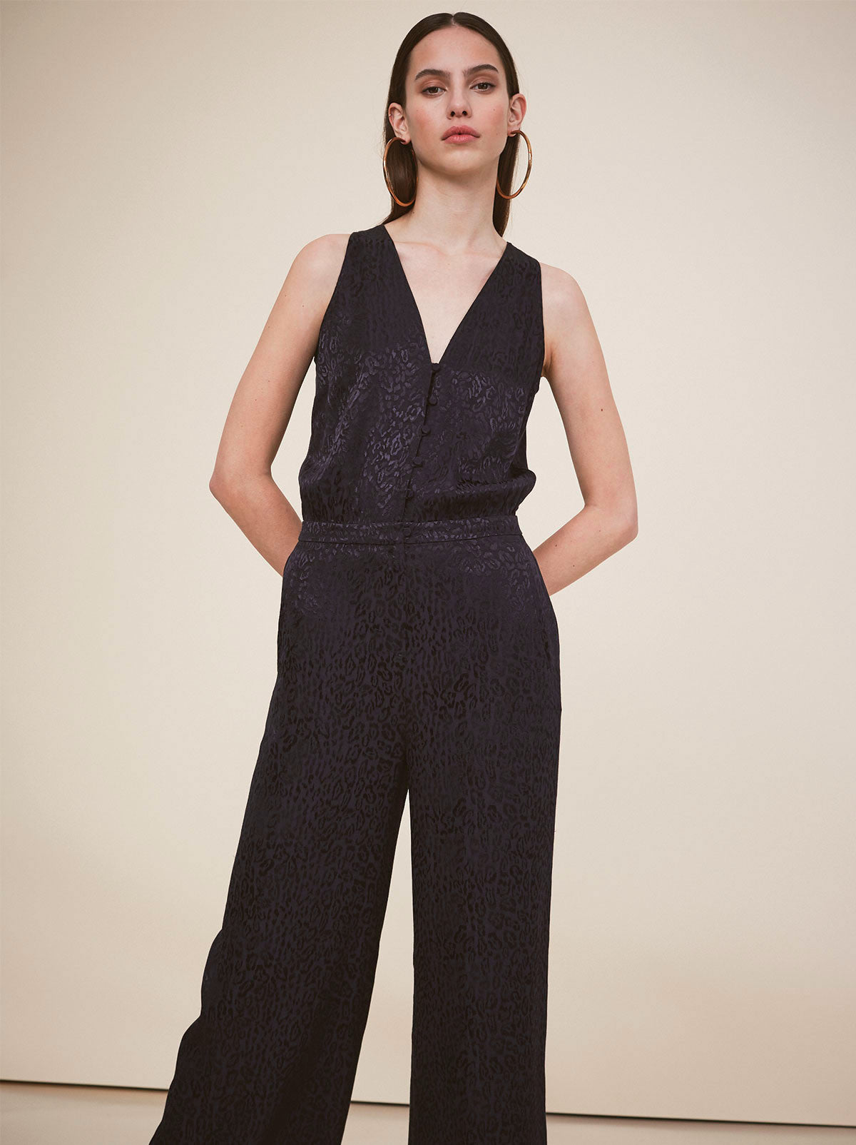 Sylvia Scarf Neck Jumpsuit by KITRI Studio