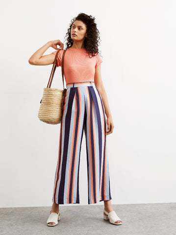Talia Striped Wide Leg Trousers by KITRI Studio