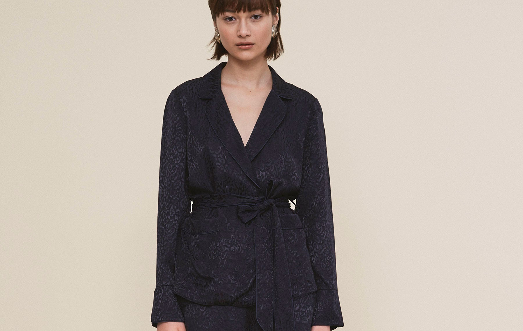 Wheeldon Navy Style Pyjama Blouse by KITRI Studio