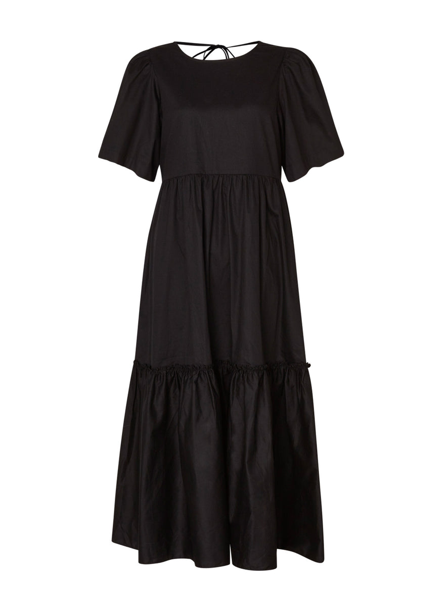 Juicy Black Cotton Dress by KITRI Studio