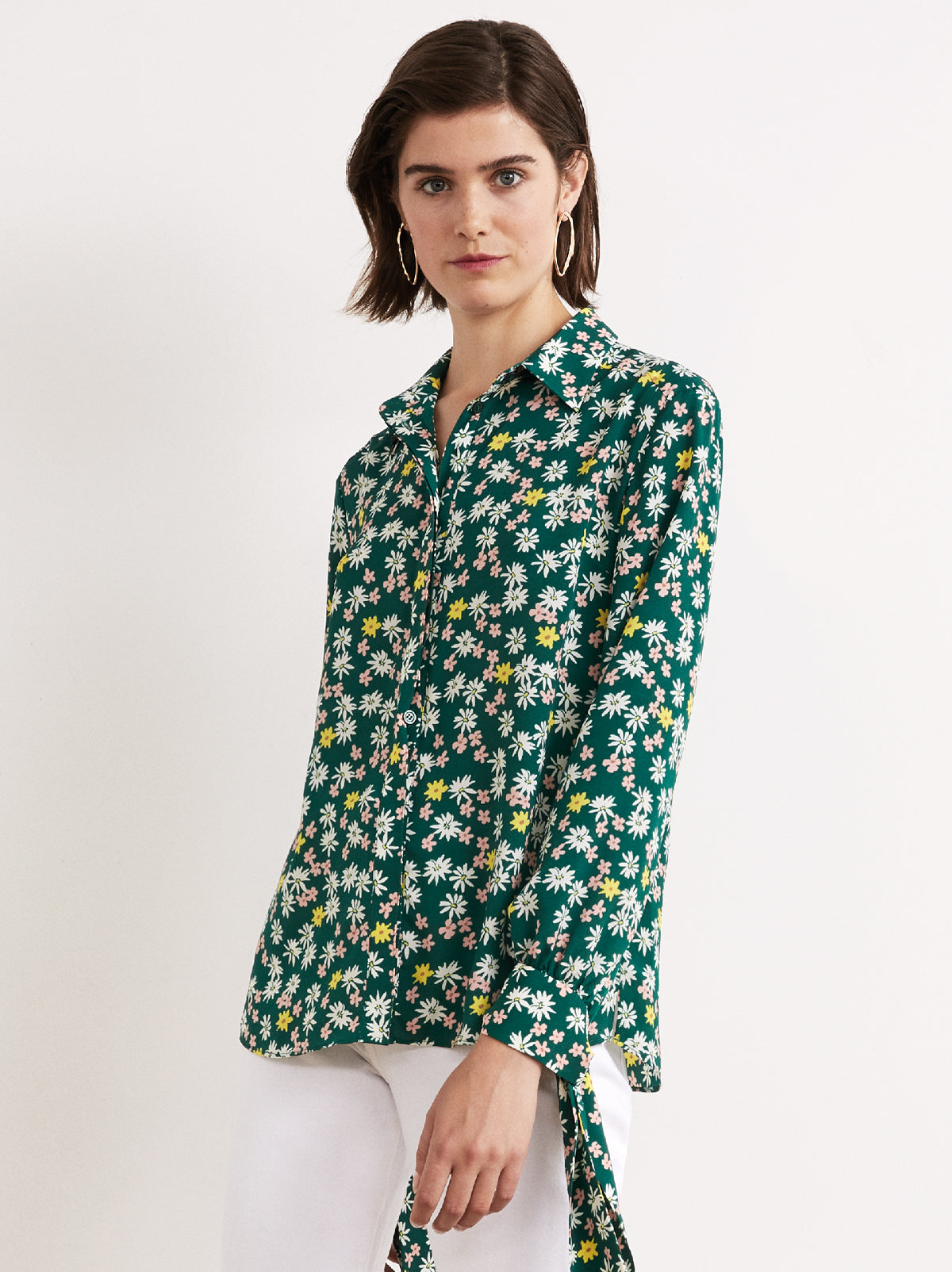 12d3a7800ffcd ... Antonia Floral Print Tie Sleeve Blouse by KITRI Studio ...