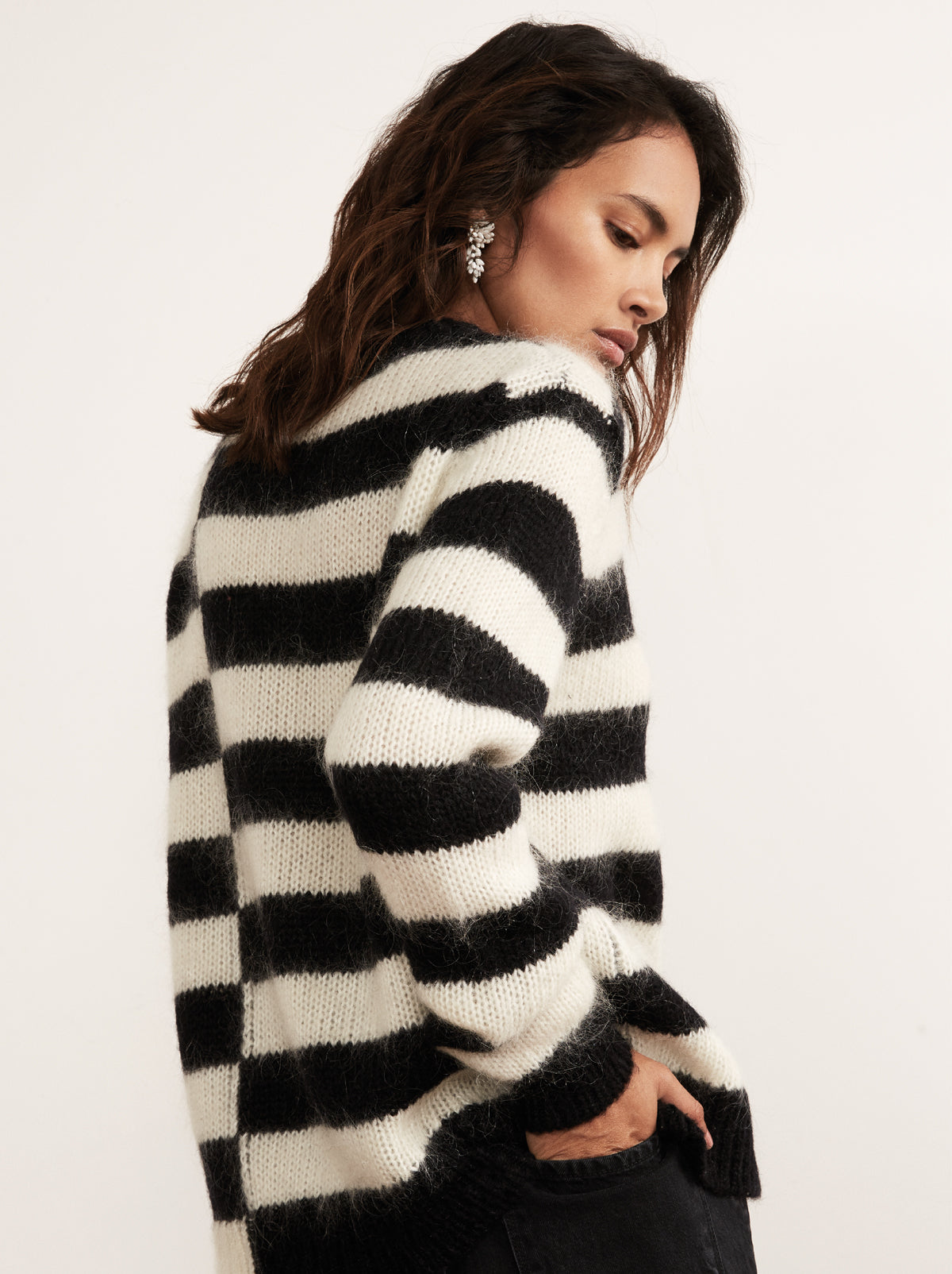 Karla Black Mohair Striped Jumper by KITRI Studio