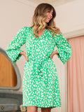 Kate Green Animal Print Dress