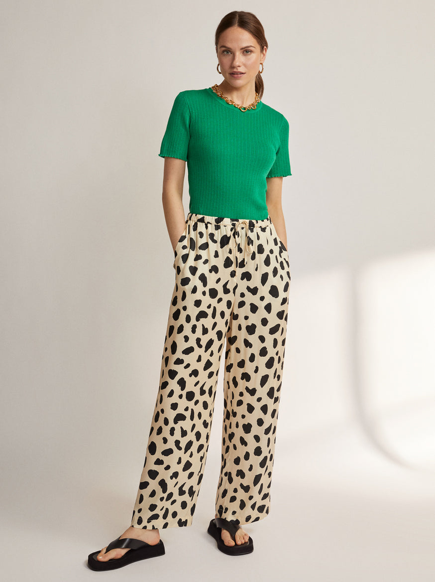 Kent Animal Spot Drawstring Trousers by KITRI Studio