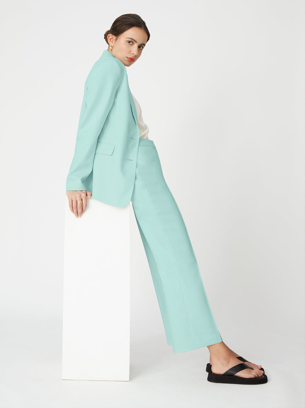 Lauder Mint Blazer by KITRI Studio