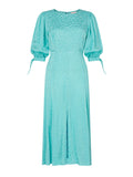 Lorelle Mint Daisy Jacquard Midi Dress by KITRI Studio