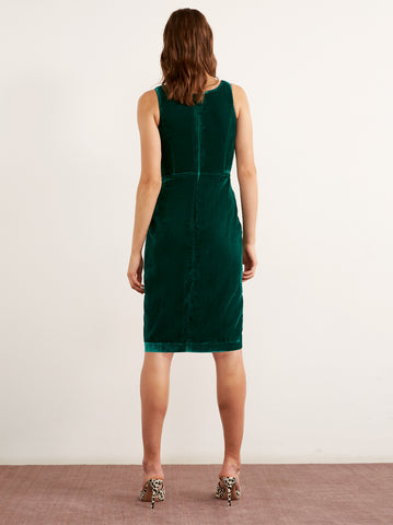 Lucette Green Velvet Dress by KITRI Studio