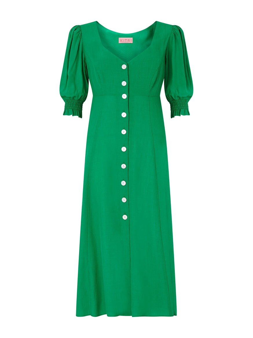 Madeline Green Tea Dress by KITRI Studio