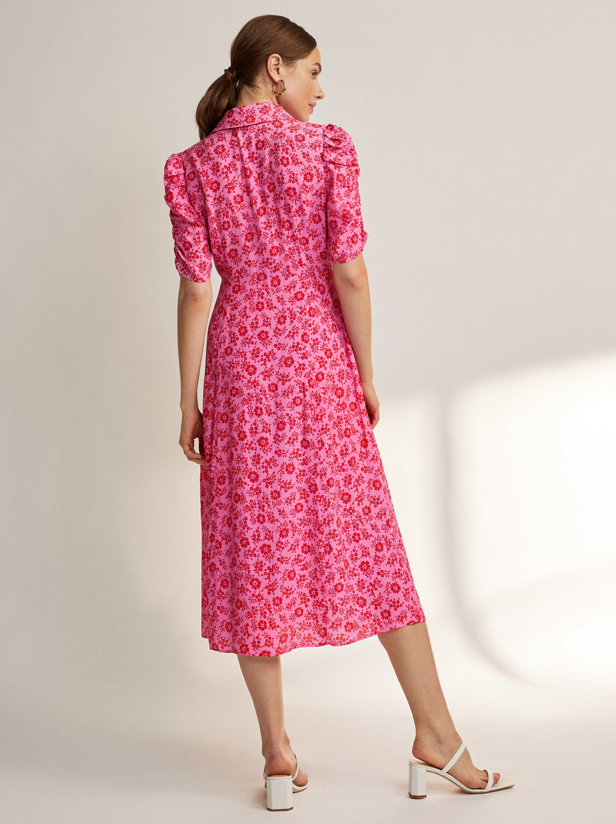 Maguire Pink Ditzy Floral Dress by KITRI Studio