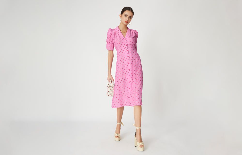 Maguire Polka Dot Tea Dress