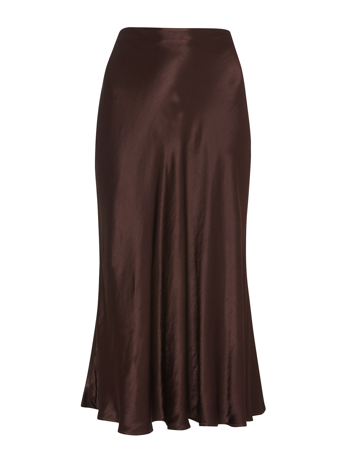 Marie Chocolate Midi Skirt by KITRI Studio