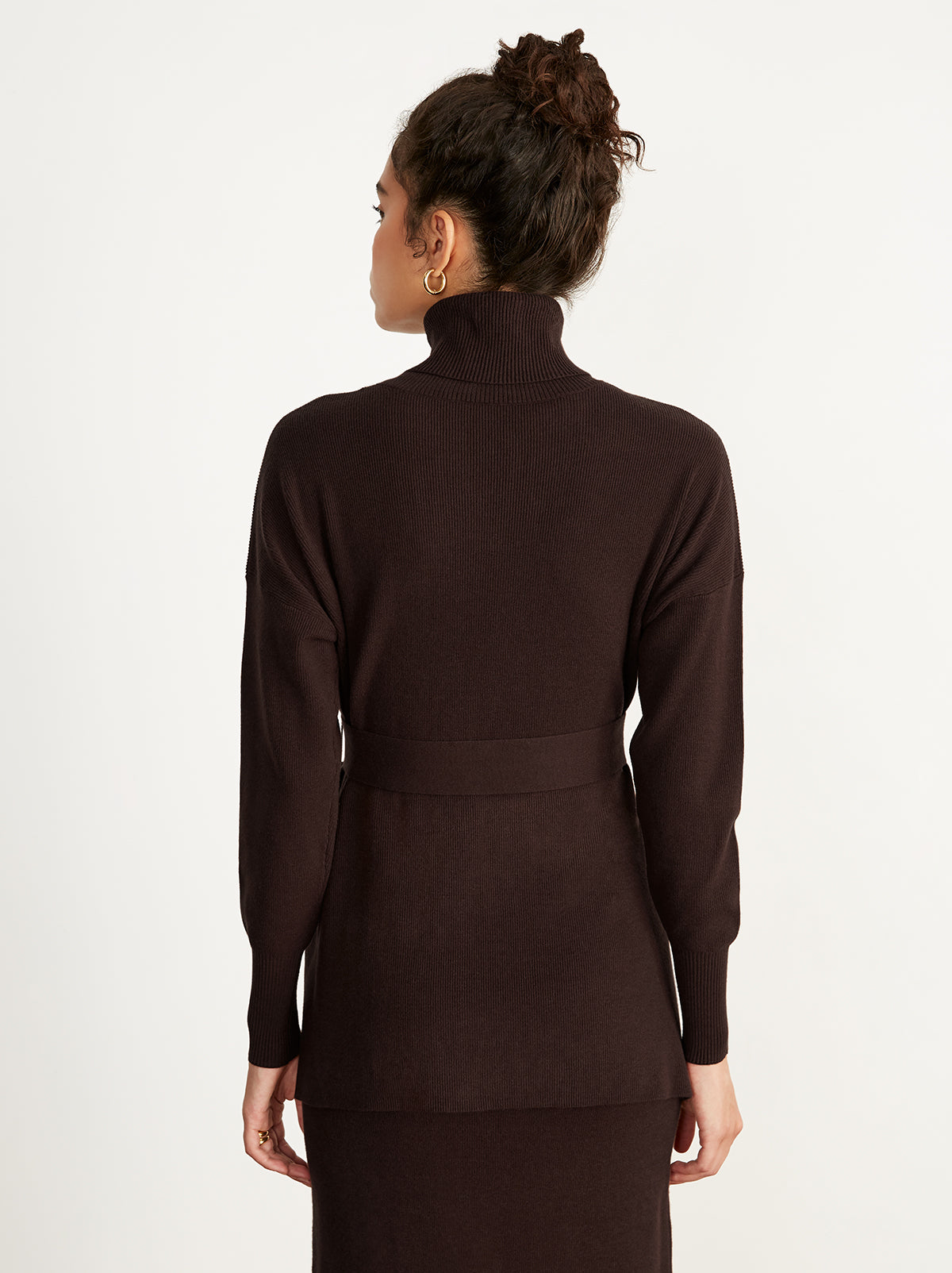 Marsha Brown Roll Neck Jumper by KITRI Studio