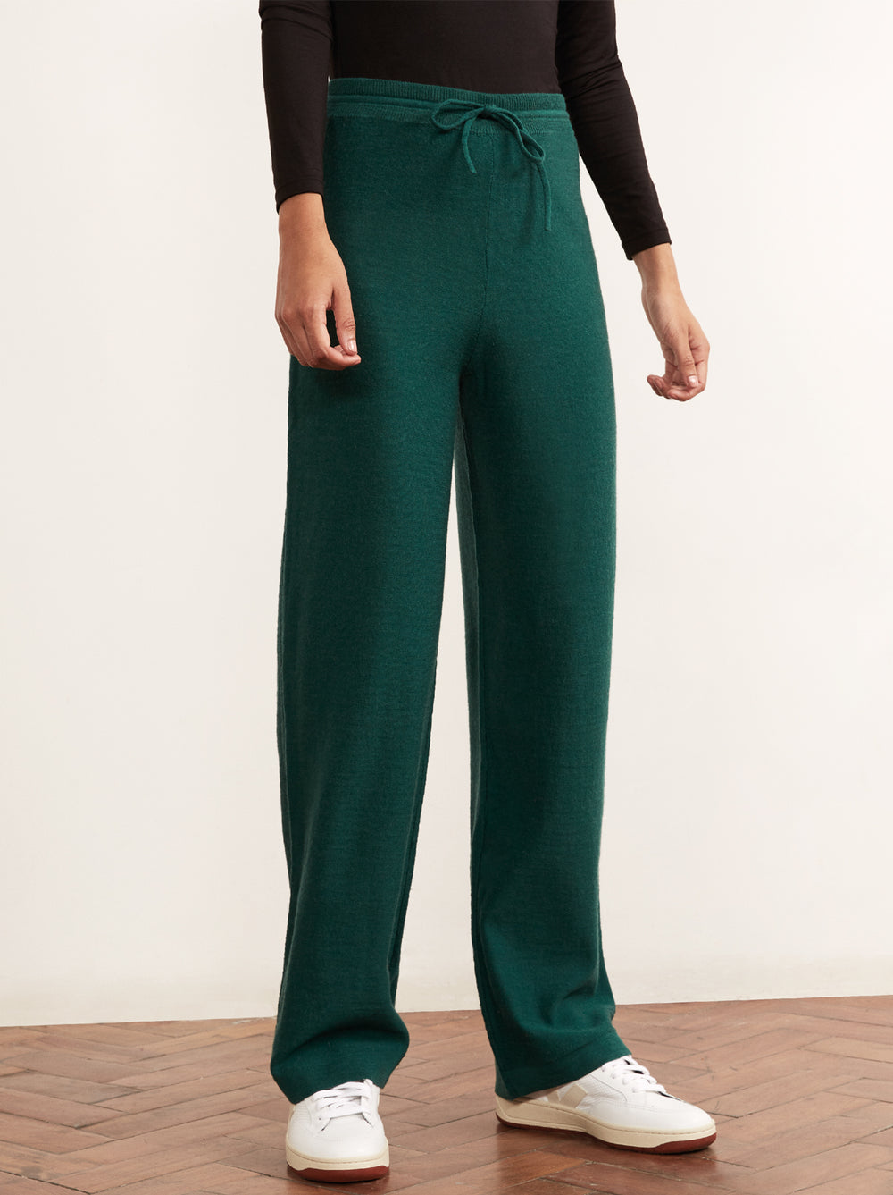 Matilda Green Merino Trousers by KITRI Studio