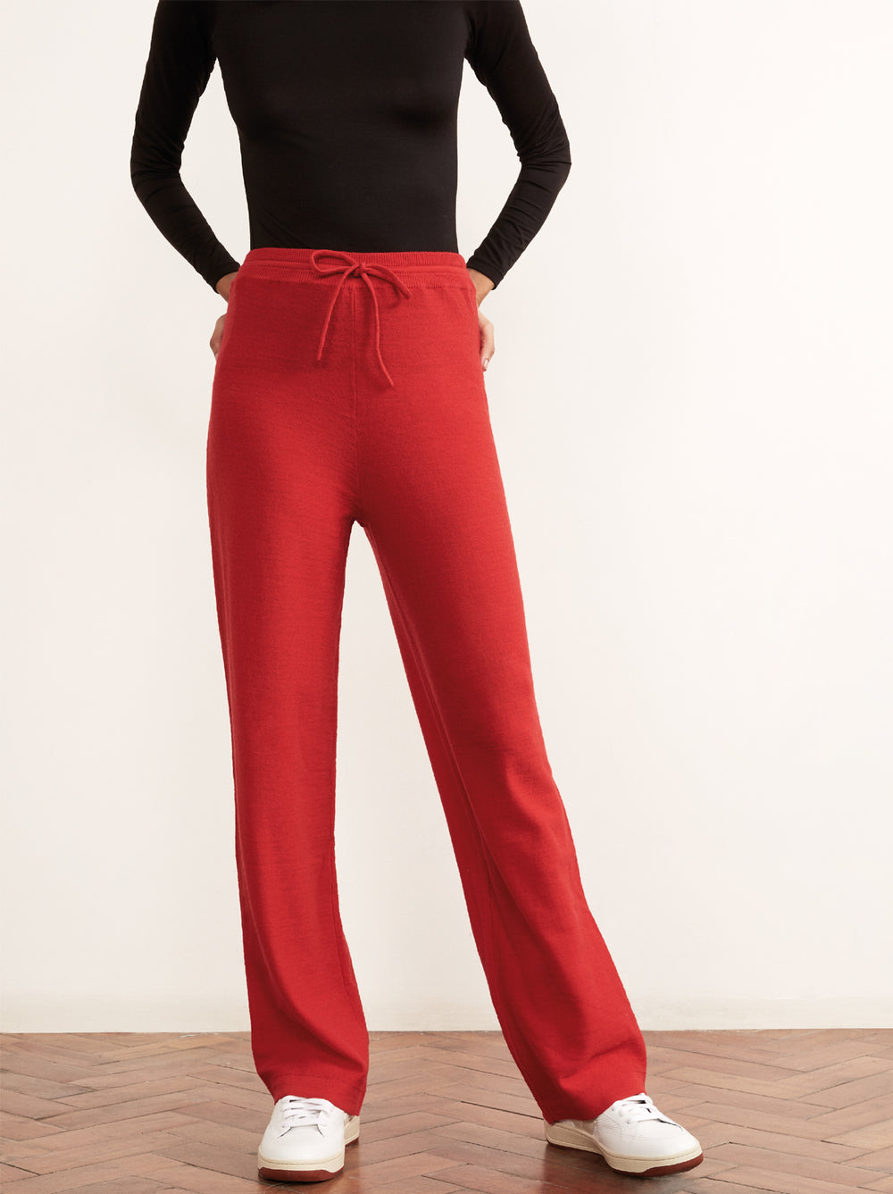 Matilda Red Merino Wool Trousers by KITRI Studio