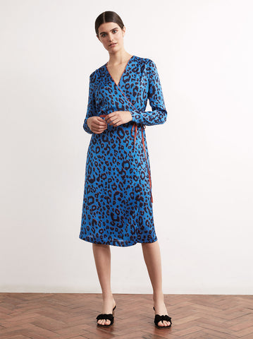 Maya Animal Print Wrap Dress by KITRI Studio