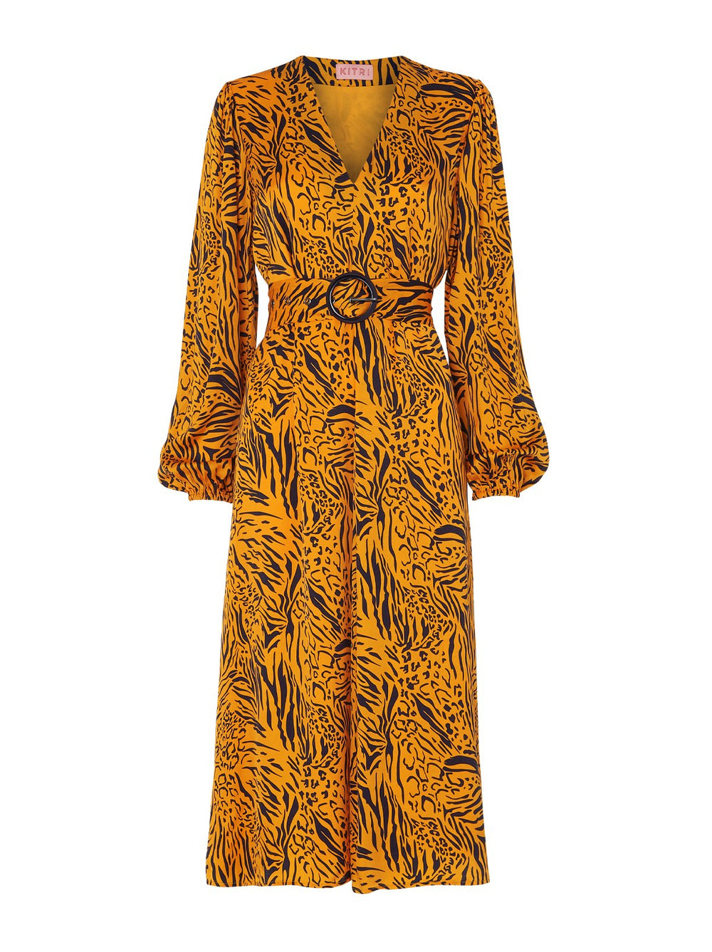 Mia Animal Print Midi Dress by KITRI Studio