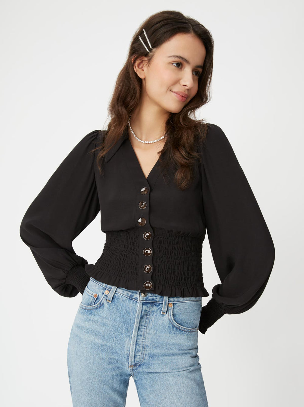 Michelle Black Vintage Top by KITRI Studio