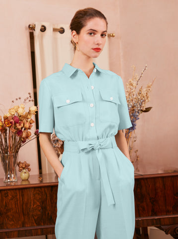 Mika Mint Jumpsuit by KITRI Studio