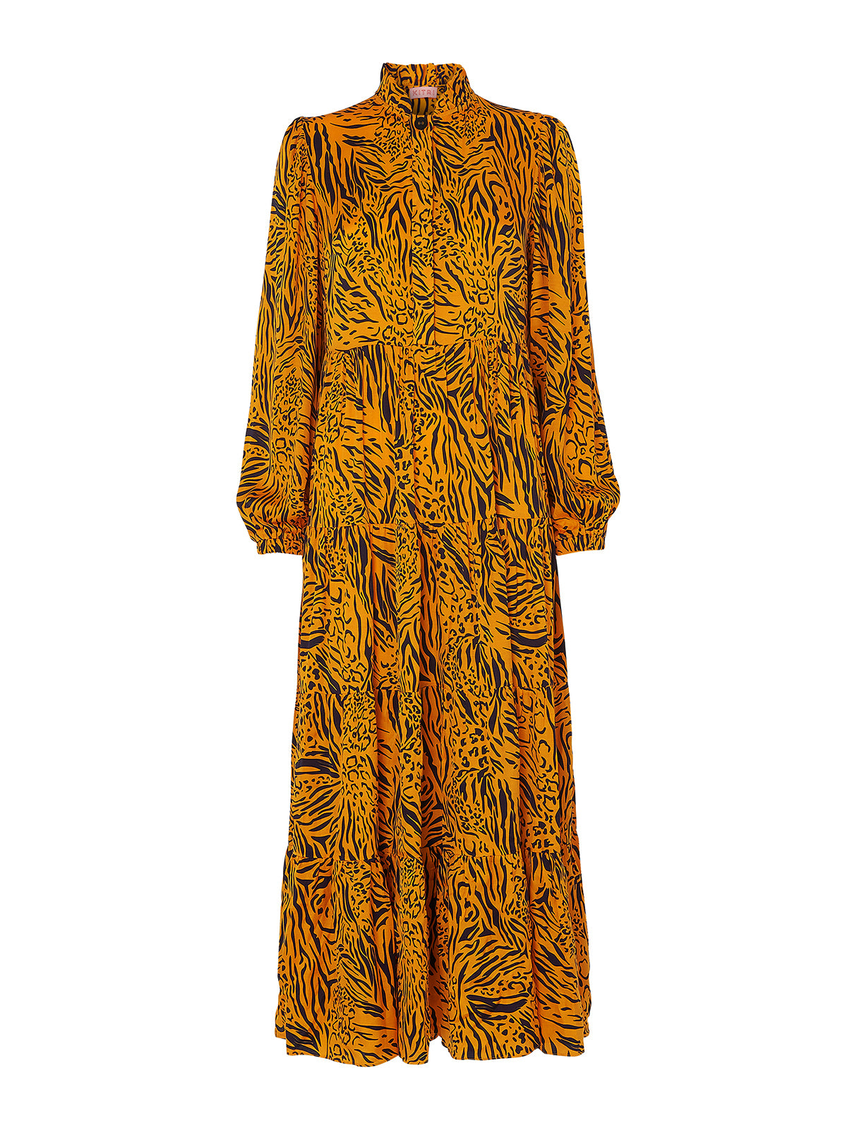 Natalia Animal Print Maxi Dress by KITRI Studio