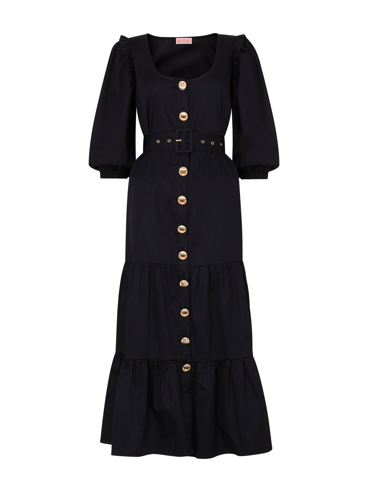 Pre-order: Ninette Black Shirt Dress
