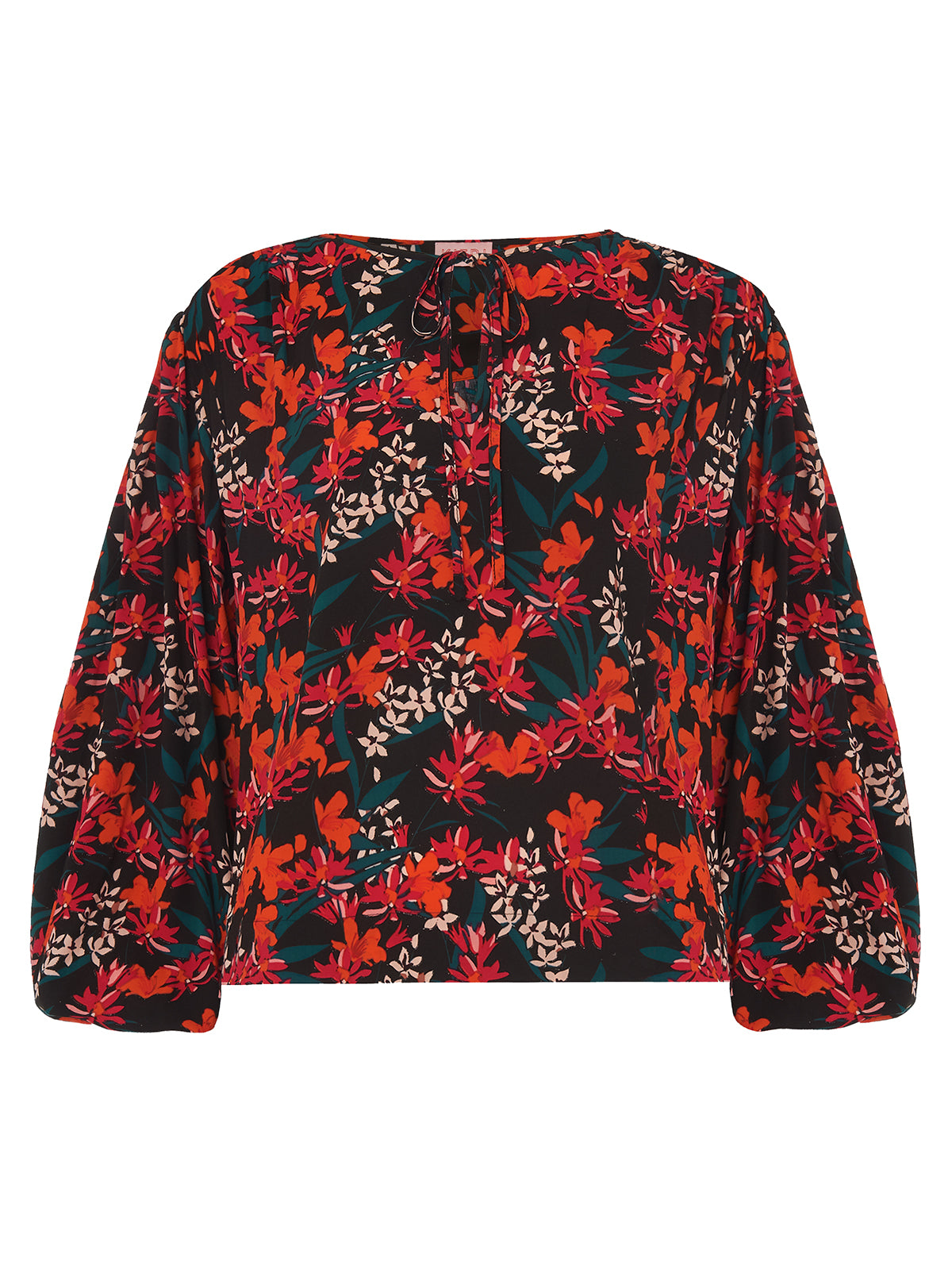 NNoa Printed Oversized Statement Sleeve Blouse by KITRI Studio