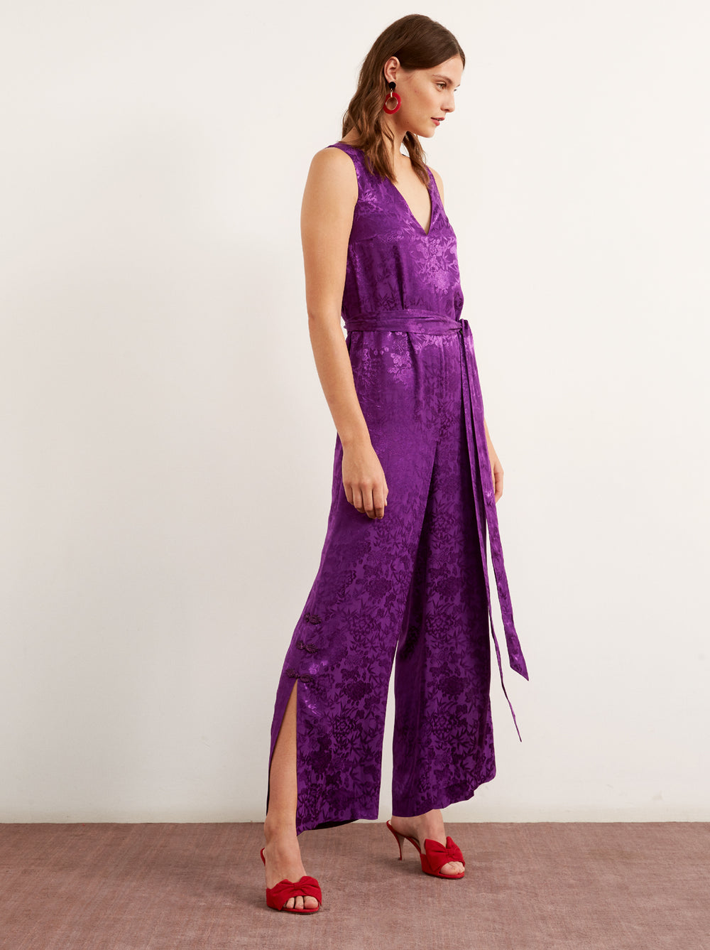7dc72249cd4 Odile Purple Floral Print Wrap Dress by KITRI Studio ...