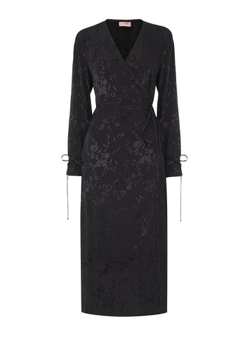 Odile Black Wrap Dress by KITRI Studio
