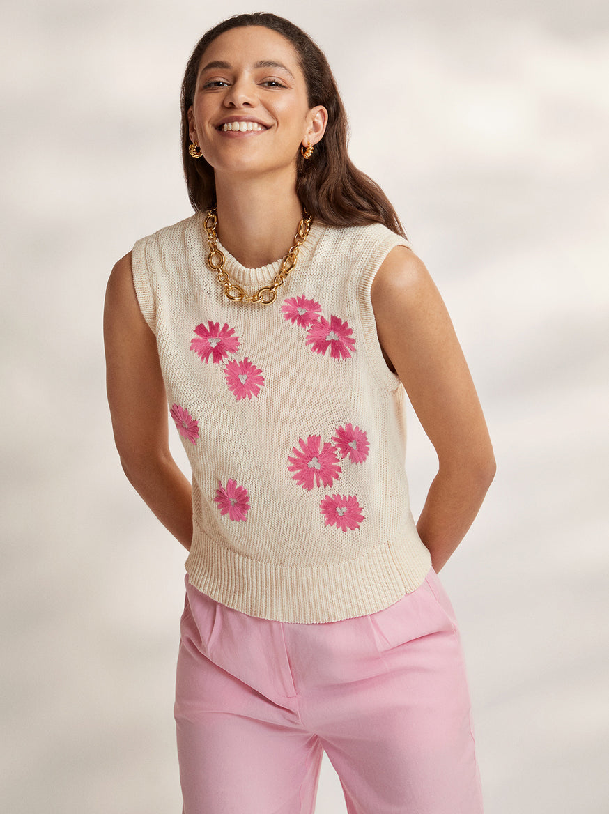 Oopsy Daisy Embroidered Cotton Vest by KITRI Studio