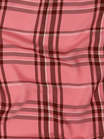 Joy Pink Check Tea Dress