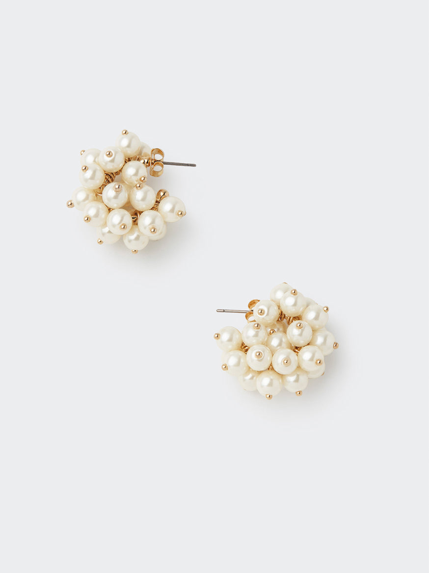 Small Pearl Cluster Earrings