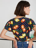 Posie Fruit Print Short Sleeved Top by KITRI Studio
