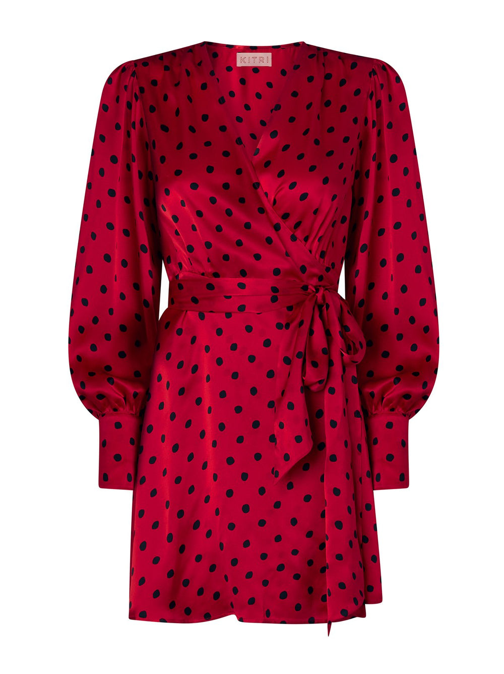 Rebecca Red Polka Dot Mini Dress by KITRI Studio