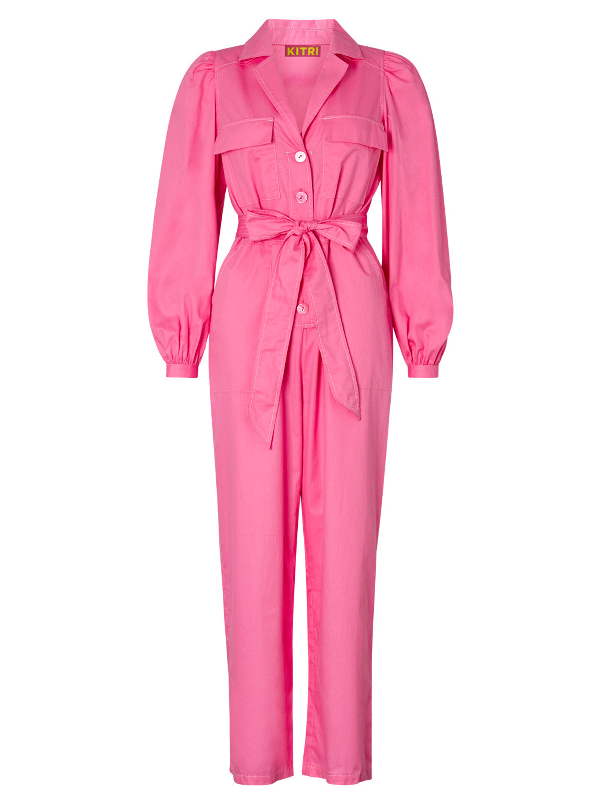 Remi Pink Cotton Jumpsuit by KITRI Studio