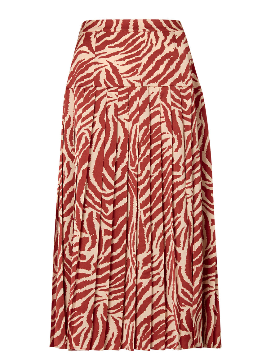 Renata Animal Print Pleated Skirt by KITRI Studio
