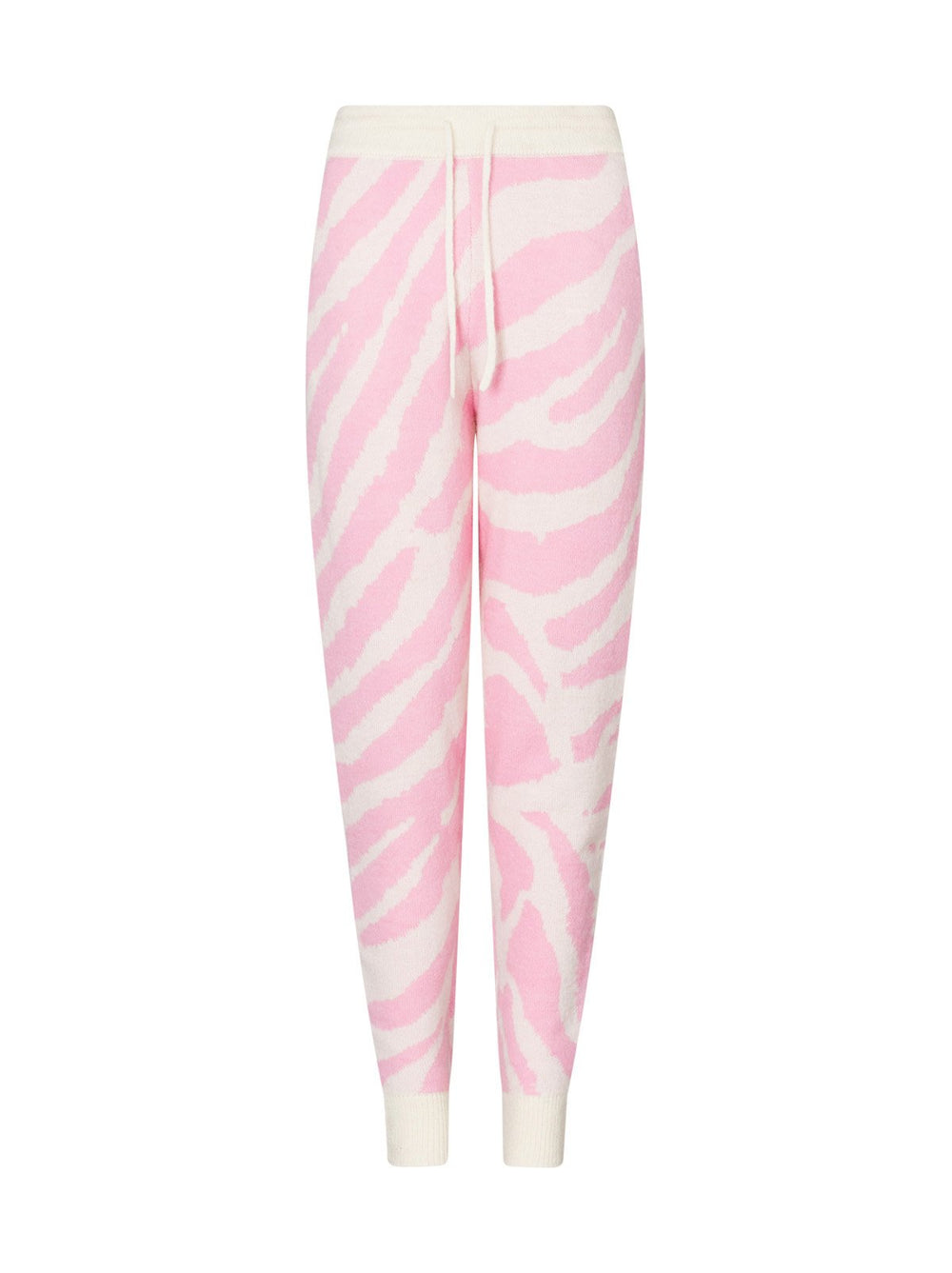 Robyn Pink Animal Alpaca Blend Knit Joggers