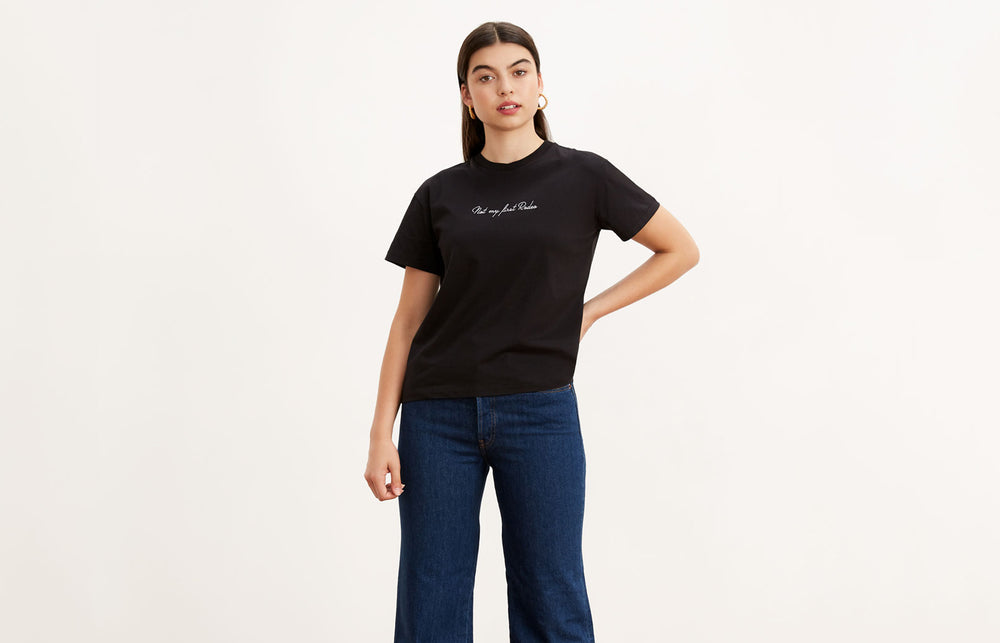 Rodeo White Cotton Embroidered T-shirt by KITRI Studio