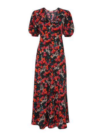 Salma Vintage Printed Maxi Dress by KITRI Studio