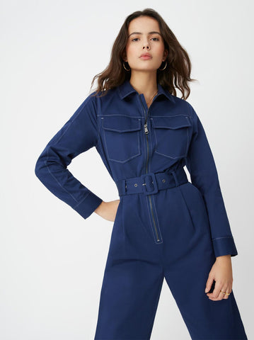 Scout Navy Tailored Jumpsuit by KITRI Studio