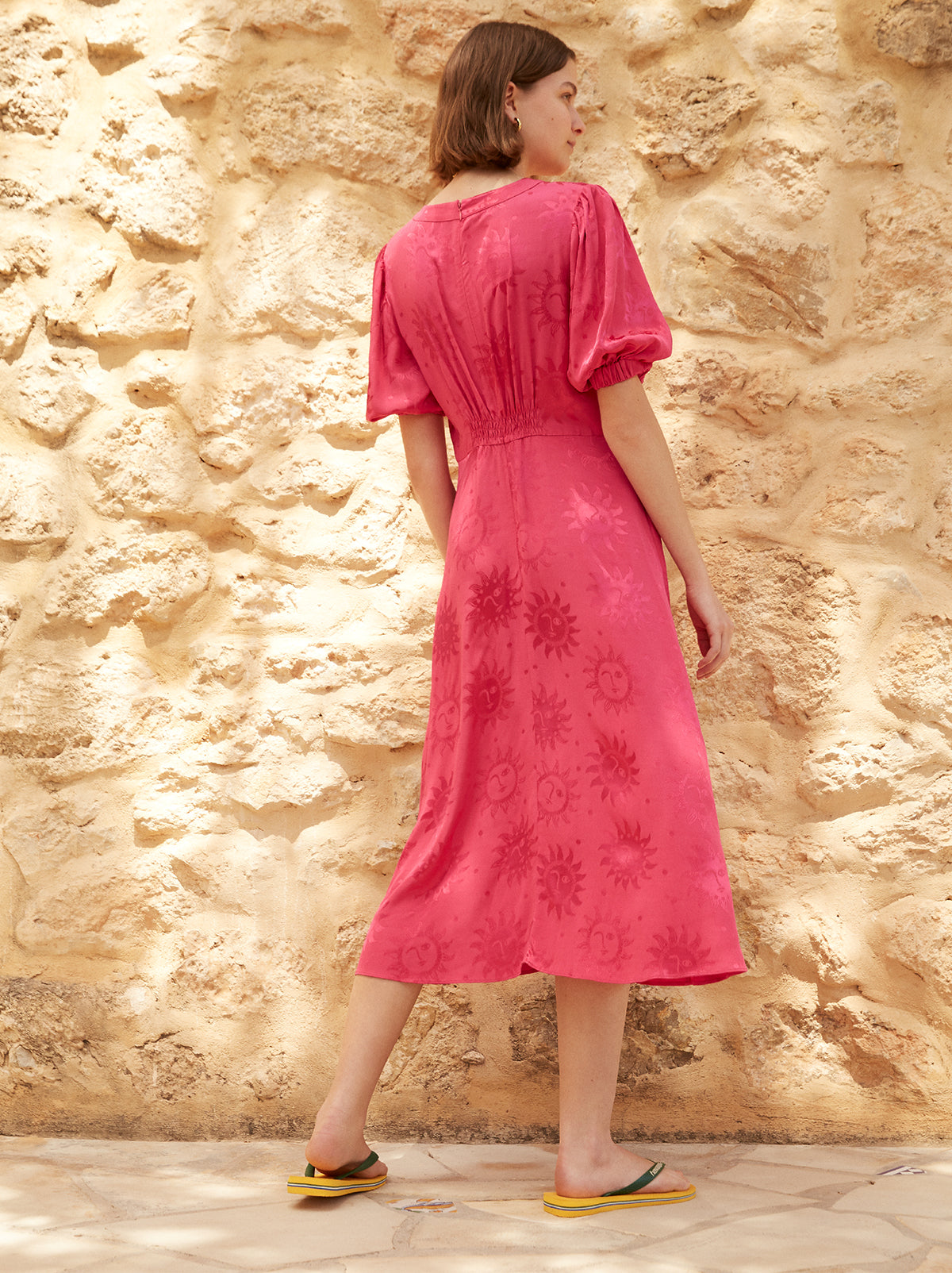 Selena Pink Vintage Tea Dress by KITRI Studio