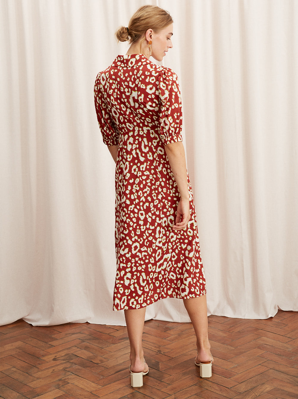 Siena Animal Print Tea Dress by KITRI Studio
