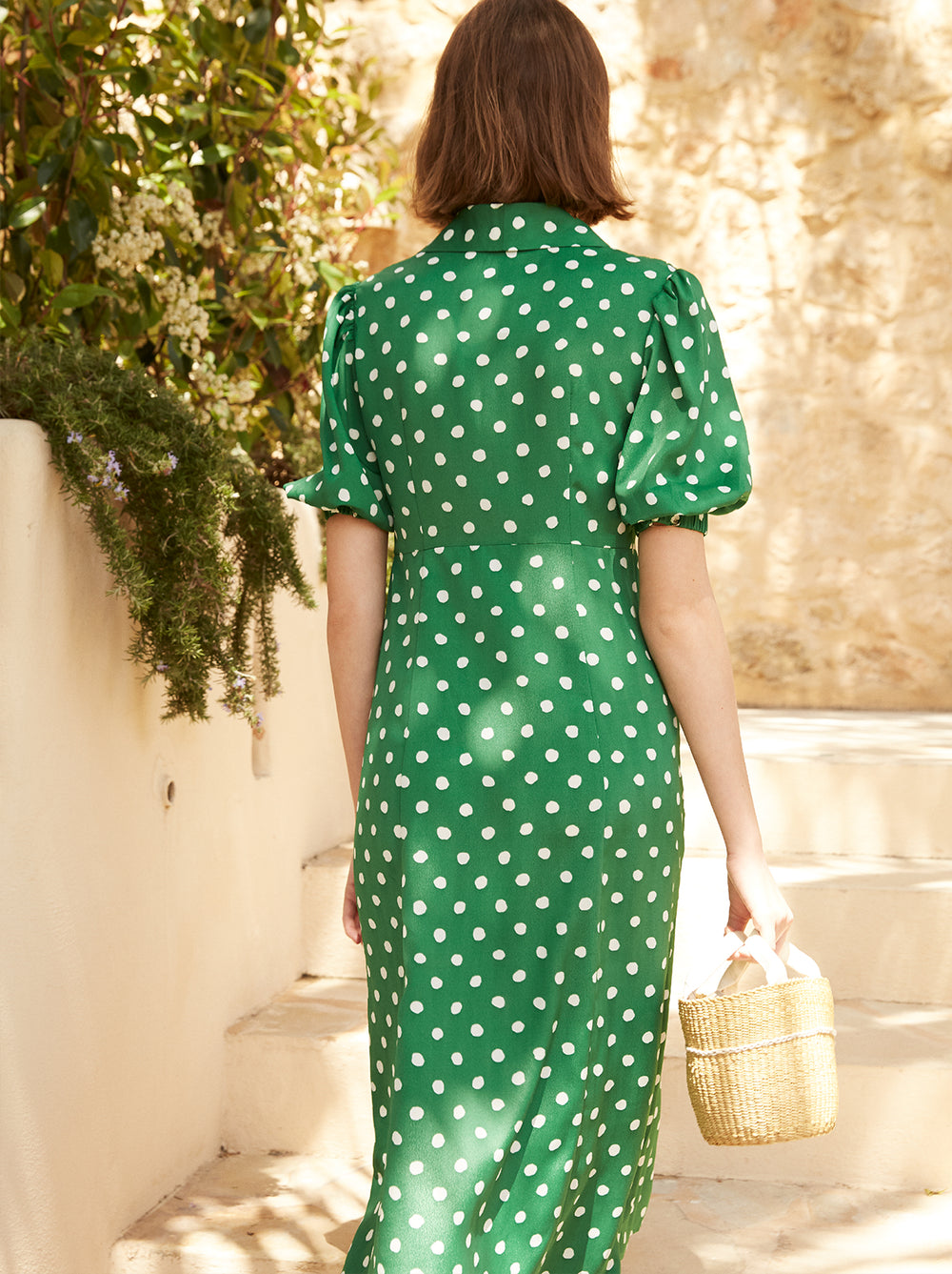 Siena Polka Dot Tea Dress