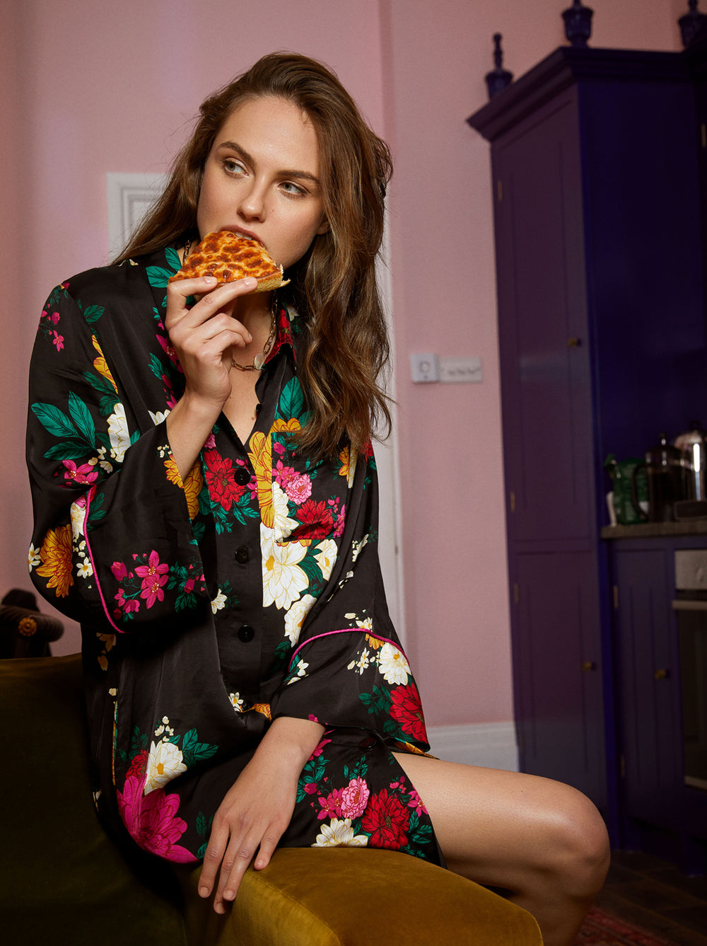 Sophie Floral Shirt Dress