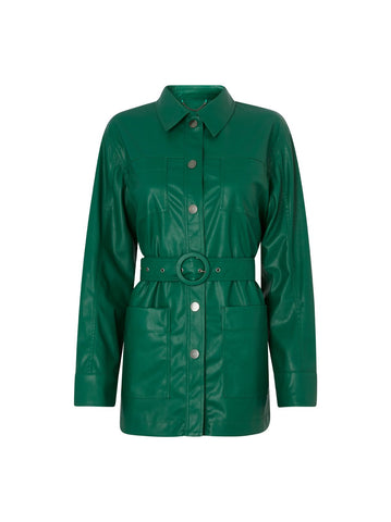 Victoria Green Vegan Leather Jacket by KITRI Studio
