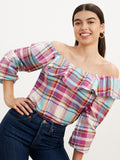 Willa Linen Check Blouse