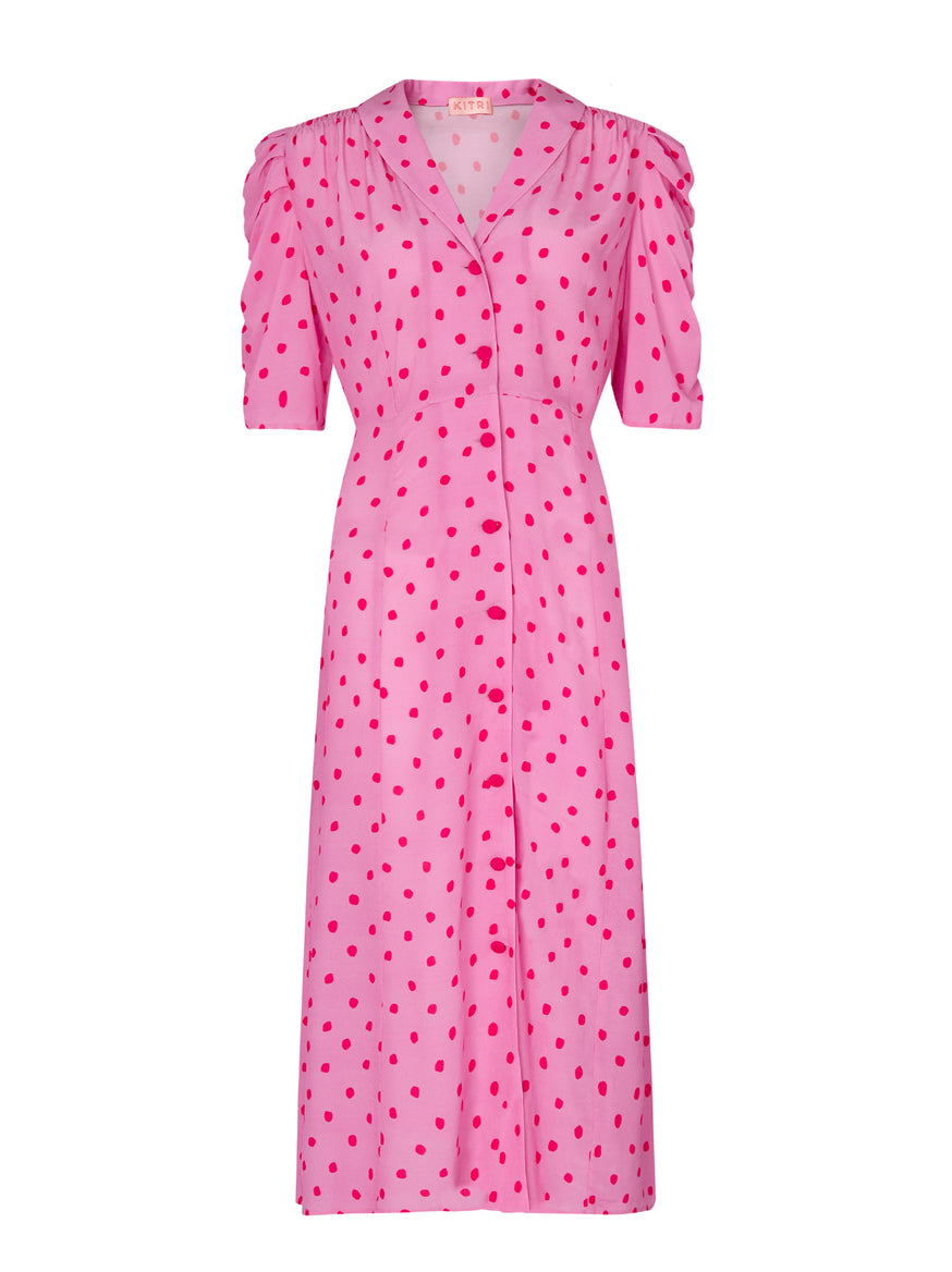 Maguire Polka Dot Tea Dress by KITRI Studio