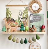 * New* Droplet Garland - Green tones