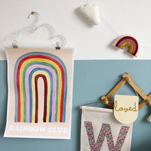 Cargar imagen en el visor de la galería, Bespoke Rainbow and Cloud Garland - in custom colours. Made to order.