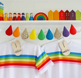 Rainbow Raindrop Garland (Bestseller) Bright with choice of glitter. Made to order within 4 weeks