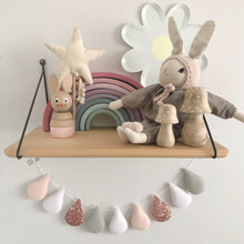 Load image into Gallery viewer, Droplet garland - (Bestseller) Rose gold with pale grey. Made to order.