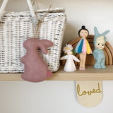 Bunny decoration by Velveteen Babies